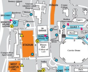Uga Campus Map With Building Numbers.Campus Maps Parking And Transit Services Syracuse University