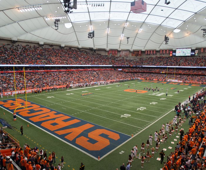 Carrier Dome filled with spectators for football game