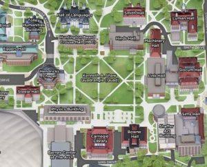 Screen shot of virtual map